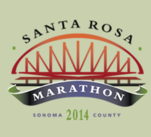 The 2014 Santa Rosa Marathon.  At least the flight was longer than it took me to finish the race.